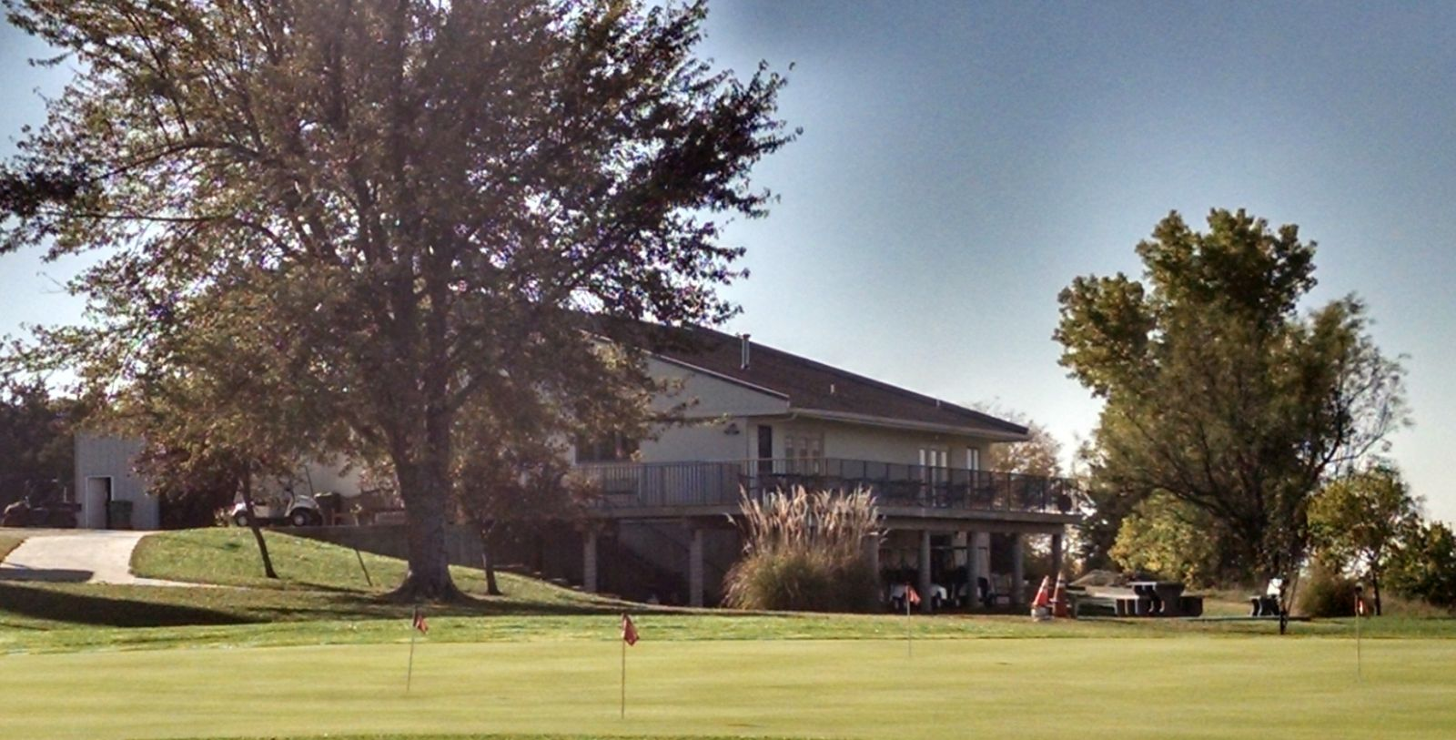The clubhouse at Indian Hills Golf Course
