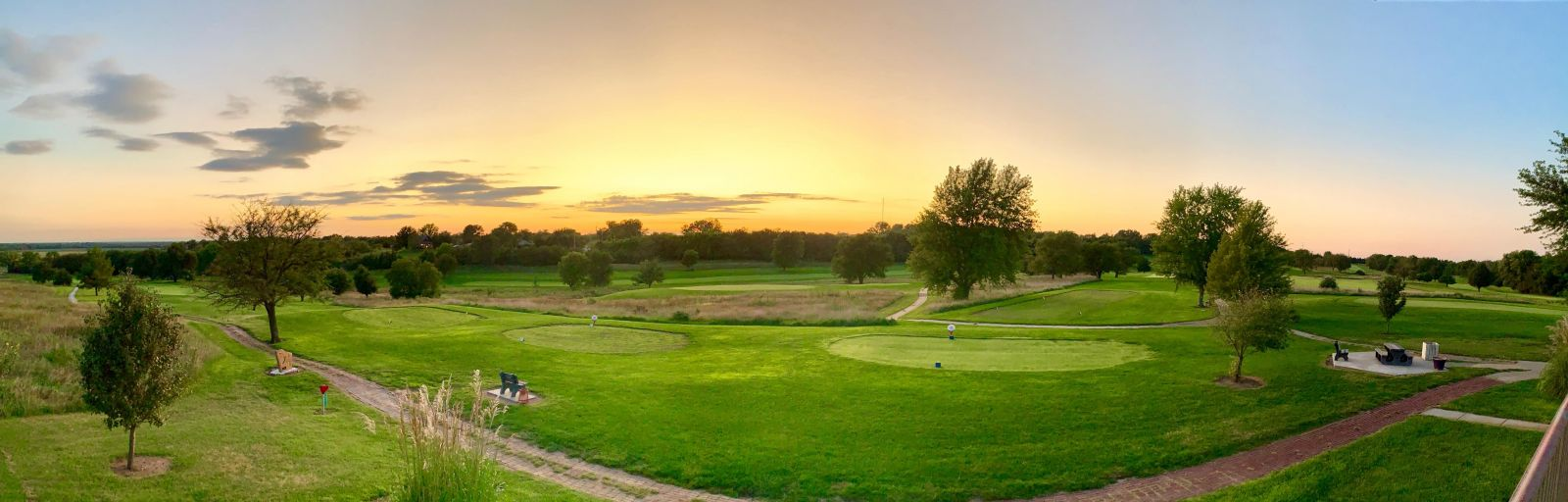 Sunset at Indian Hills Golf Course in Chapman Kansas
